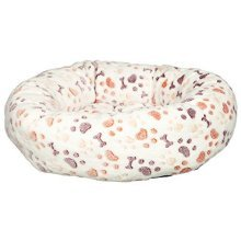 Trixie Lingo Dog Bed, 50 x 40 Cm, White/beige - Bed Whitebeige Sizescm Various -  trixie bed lingo dog whitebeige sizes 50 40 cm various new pet cat