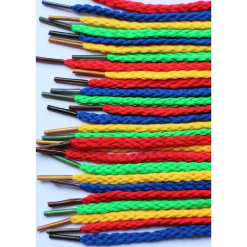 40 Pack Of Coloured Button Lacing Laces Fine Motor Skills Development