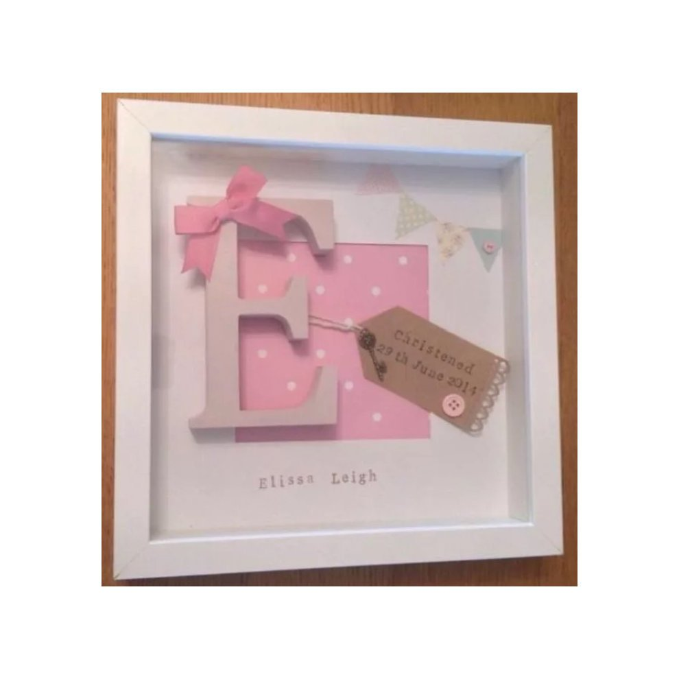 personalised baby birth date frame customised christening frame on