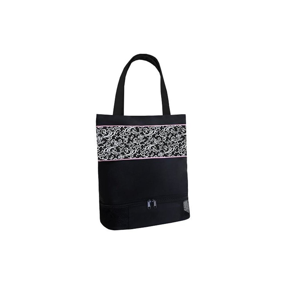 Sassi Designs DSK-02 Damask Tote Bag with Shoe Compartment - Medium