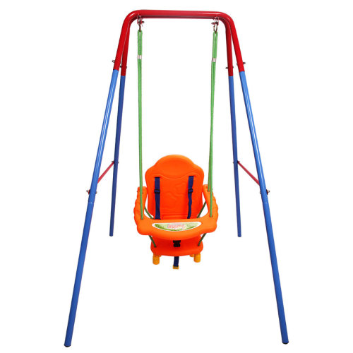 Folding Toddler Baby Outdoor Swing Safety Chair Set Kids Play Fun Garden Yard Uk On