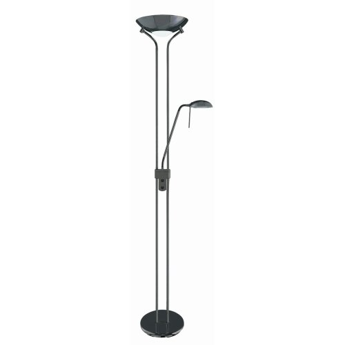 Black Chrome Mother and Child Floor Stand