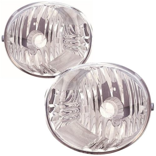 Toyota Rav-4 2004-2006 Front Fog Light Lamps 1 Pair O/s & N/s
