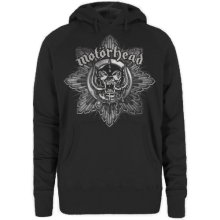 Motorhead Women's Pig Badge Long Sleeve Hoodie, Black, Medium -