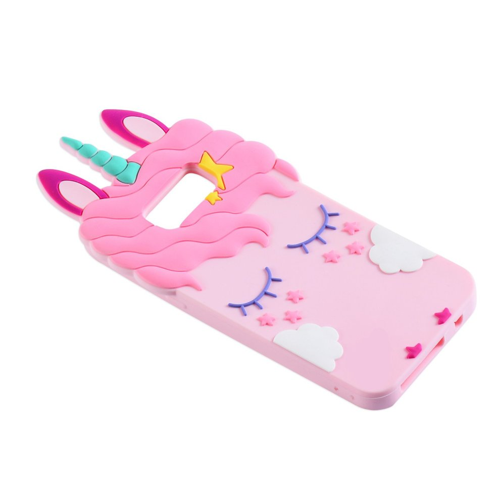 newest 73955 bffef Liangxuer Pink Unicorn Case for Samsung Galaxy S7 edge,Soft 3D Silicone  Samsung Galaxy S7edge Case,Cute Fashion Animal Rubber Cover,Cool Lovely...