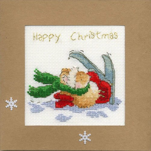 Bothy Threads Cross Stitch Kit - Christmas cards :   Apres Ski XMAS21