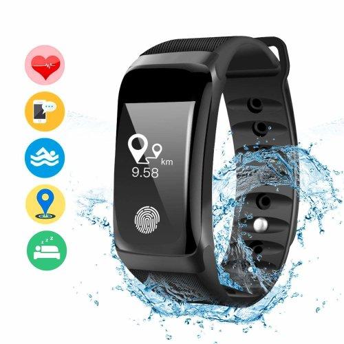 DAMIGRAM Fitness Tracker,Waterproof Activity Workout Tracker Pedometer for Smartphones