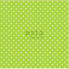 wallpaper dots lime green - 115743