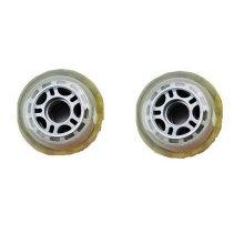Set of Two PU Inline Skate Wheels Roller Skate Wheels 76MM Grey