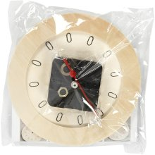 Mouse over image to zoom          Have one to sell? Sell it yourself  Details about   Decorate Small Ply Wood Clock With Mechanism Complete Set 15cm Fine Quality