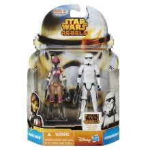 "Star Wars Rebels Mission Series Sabine Wren and Stormtrooper 3 3/4"" Scale Figure"
