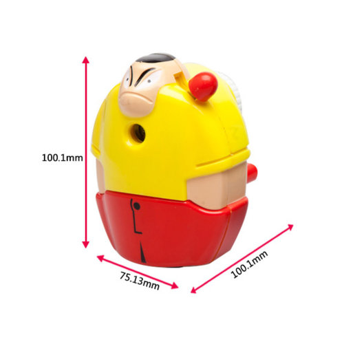 Lovely Boy Manual Pencil Sharpener for Office and Classroom (Yellow/Red)