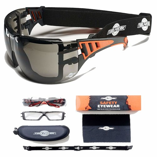 ToolFreak-Rip Out | Safety Glasses & Sunglasses with Tinted Lens that Can Also Be Worn As Protective Safety Goggles for Work, Sport and Activity |...