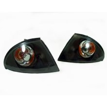 Bmw 3 Series E46 4 Door 1998-01 Front Indicators Crystal Black 1 Pair O/s & N/s