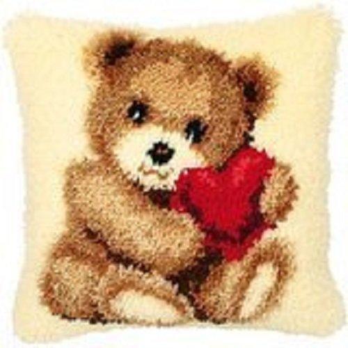 "Latch Hook Complete Cushion Kit""Comfort Bear"" 43 x 43cm"
