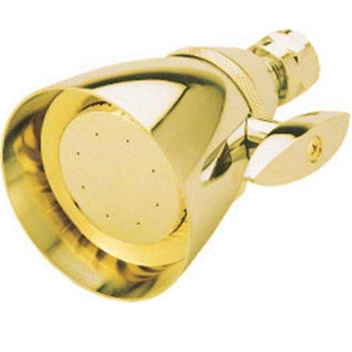 Kingston Brass K132A2 2-.25 Inch Diameter Brass Shower Head - Polished Brass