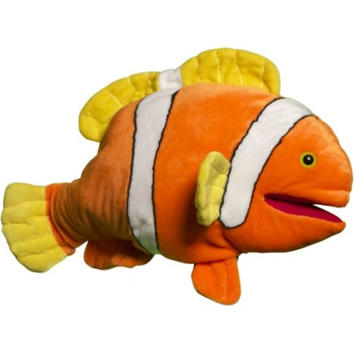Sunny Toys NP8131 16 In. Tropical Fish - Anemone Clown, Animal Puppet