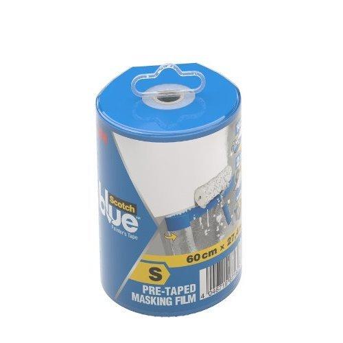 ScotchBlue 2090FDS 609 mm x 27.4 m Pre-Taped Masking Film in Dispenser, Small, Transparent