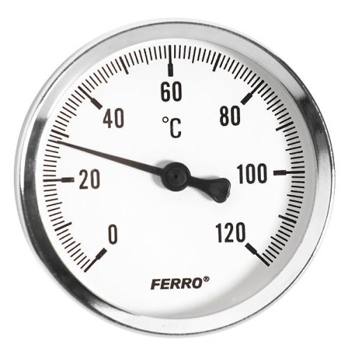 100mm 0 - 120c Thermo Water Oil Temperature Gauge 1/2 Inch Rear Entry Thermometer
