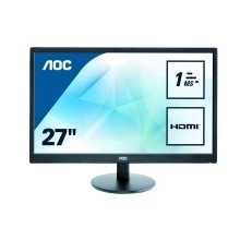 AOC E2770SH 27In Widescreen LED Monitor -DVI HDMI VGA