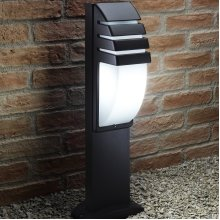 Auraglow Ultra Modern Weather Resistant Outdoor Garden Path Post Light - 5w LED Light Bulb Included