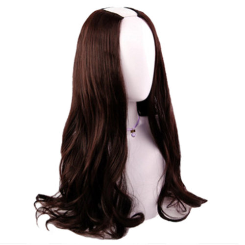 U-shaped Half Head Cover Stealth Seamless Straight Hair Curls#A
