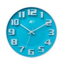 [Blue] 14 Inch Modern Wall Clock Decorative Silent Non-Ticking Wall Clock