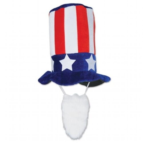 66e48b5052d36 Beistle Company 66168 Plush Patriotic Hat With Beard on OnBuy