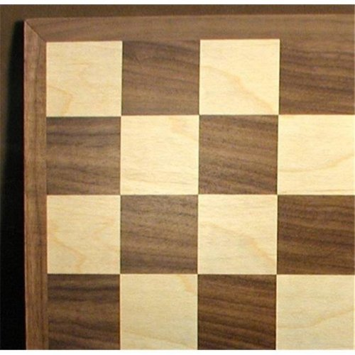 12 in. Walnut and Maple Chess Board - 1.5 in. Squares