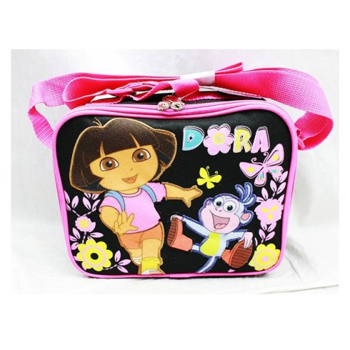 Lunch Bag - Dora the Explorer - Butterfly Black New Case Girls Gifts Licensed a02048