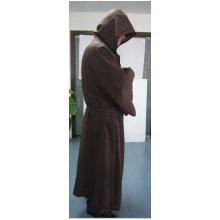 Robe & Hood Warrior Brown 100% Polyester -  hood robe brown halloween warrior adult hooded long cloak cape fancy dress reaper monk 100 polyester
