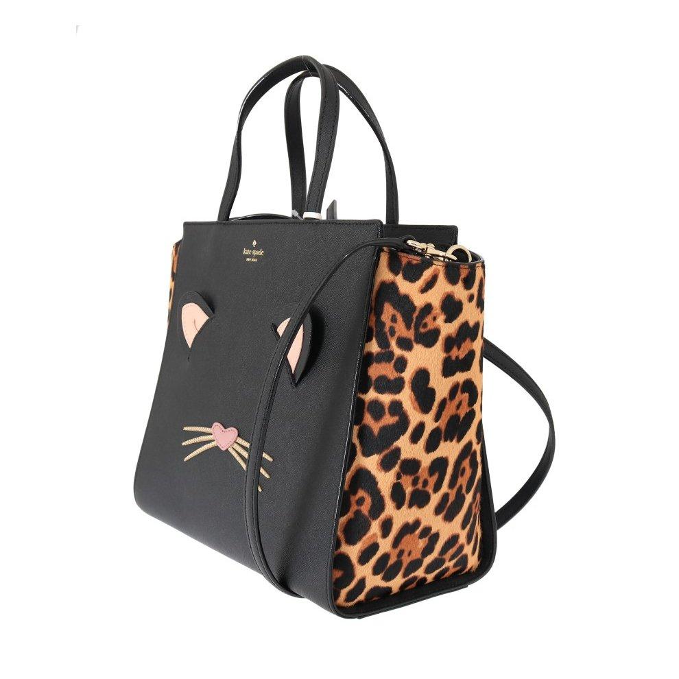 a35287151594 ... 1 Kate Spade Black LEOPARD HAYDEN Leather Handbag - 2 ...