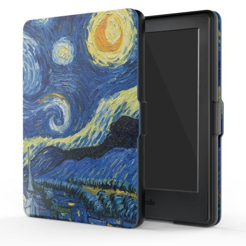 MoKo Case for Kindle E-reader (8th Gen 2016)  Starry Night