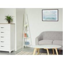 White Corner Ladder Shelf MOBILE SOLO