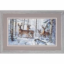 D35130 - Dimensions Counted X Stitch - Gold, Woodland Winter