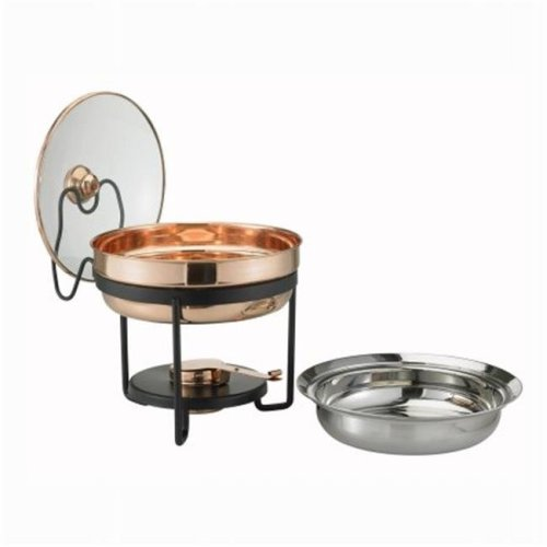 Decor Copper Chafing Dish with Glass Lid