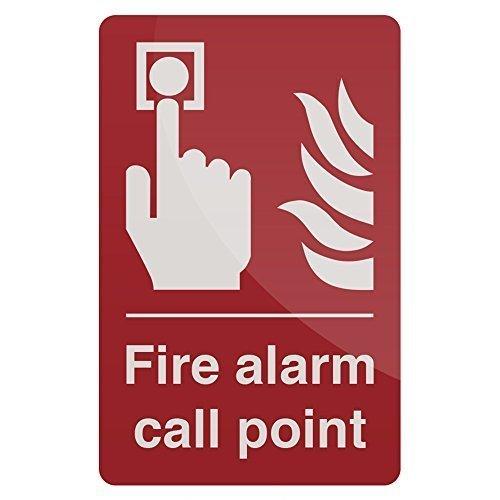 Fixman Fire Alarm Call Point Sign 100 x 150mm Self-adhesive - Fire Alarm Call -  fire alarm call point sign fixman selfadhesive 150mm 100