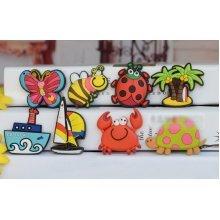 8 PCS Creative Cartoon Magnets for Kids PVC Fridge Magnets