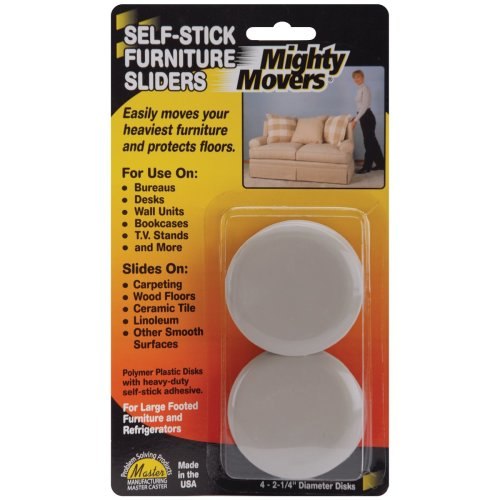 """Mighty Movers Self-Stick Furniture Sliders-2.25"""" Round 4/Pkg"""
