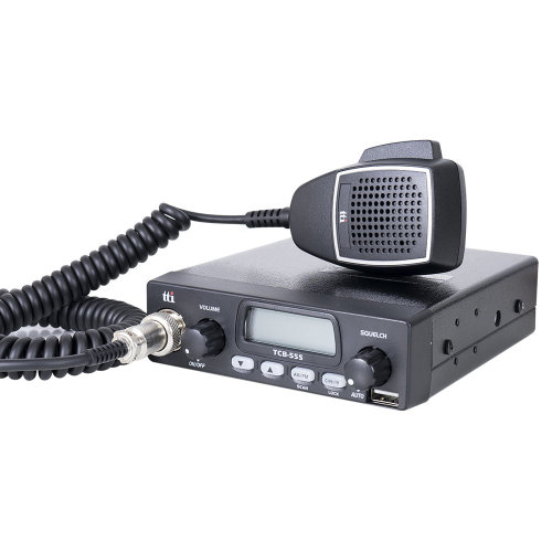 CB Radio TTi TCB-555  with automatic squelch and USB plug for mobile devices loading 12-24V