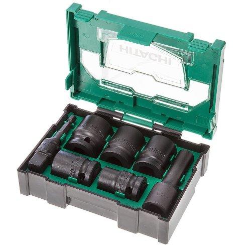 Hitachi 400.300.25 Stackable Accessory Impact Socket Set (7-Piece)