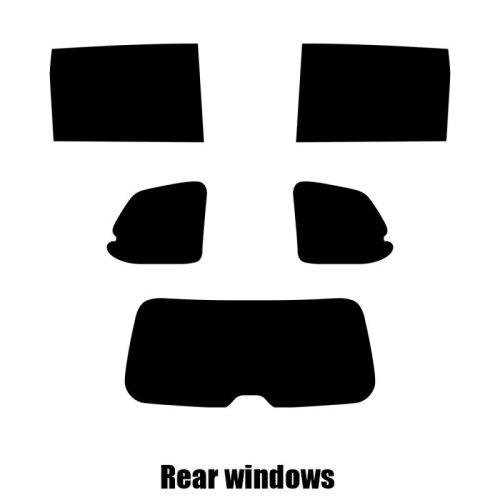Pre cut window tint - Kia Sedona - 2006 to 2015 - Rear windows