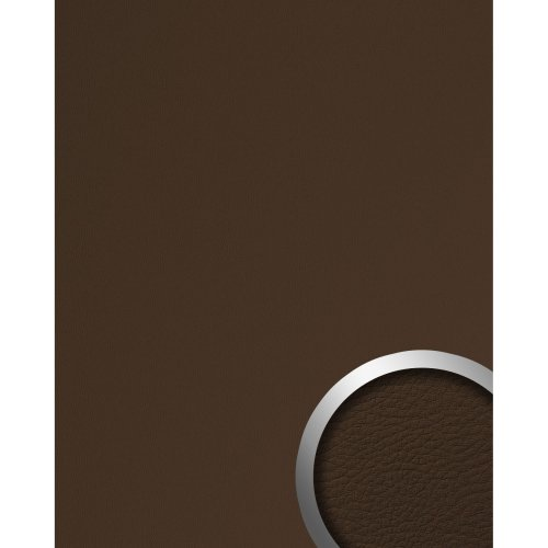 WallFace 12978 LEATHER Wall panel self-adhesive Leather design brown 2.6 sqm