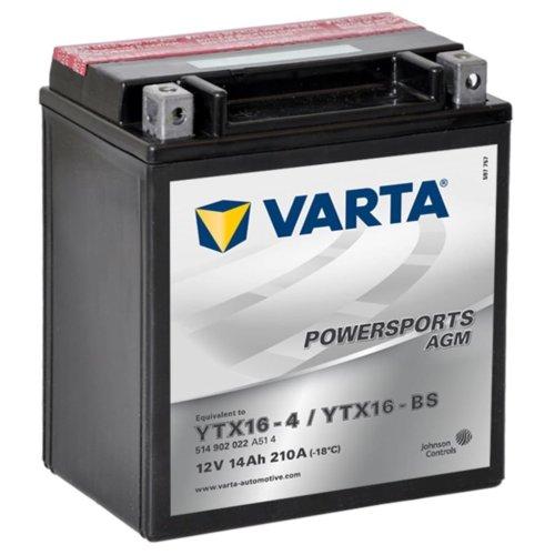 Varta AGM Battery 12 V 14 Ah YTX16-4 / YTX16-BS