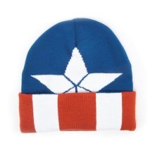 Marvel Captain America Beanie with Knitted Logo Pattern One Size (KC251006CAP)