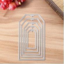 6pcs Concave hexagon Metal Cutting Dies DIY Scrapbooking Decorative Paper Cards Template Cut Dies