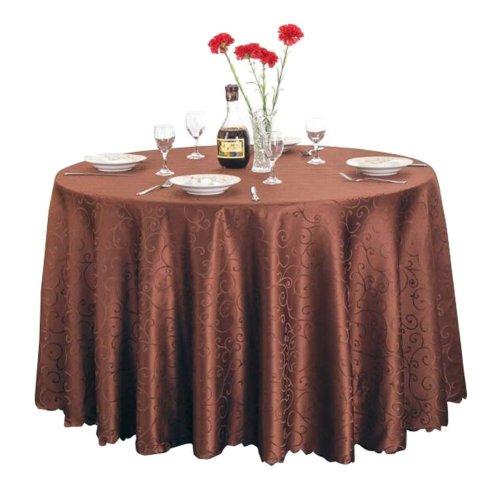 Classical High-end Hotel Restaurant/Home Round Tablecloths-Dark Brown