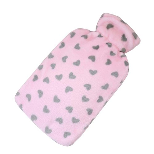 [Pink-2] Big Hot Water Bottle Cute Hot Water Bag Hot Water Bottle With Cover