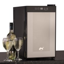 Ovation Black Vertical 8 Bottle Thermoelectric Wine Cooler / Fridge