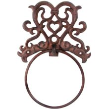 Cast Iron Towel Ring - Rustic -  cast iron towel ring rustic sublime addition home